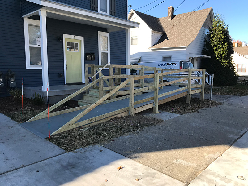 temporary wheelchair ramp rental for handicap access
